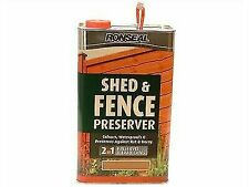 Ronseal Sfwpab5l Shed & Fence Wood Preservative Autumn Brown 5 Litre