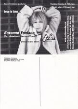 LOVE IS BLUE ALBUM BY ROXANNE FONTANA UNUSED ADVERTISING COLOUR POSTCARD