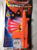 target game kid toy gun play set 4 soft plastic darts 2 targets orange pistol