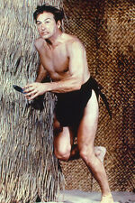 Lex Barker 11x17 Mini Poster running bare chested as Tarzan