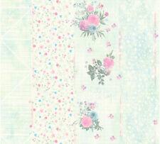 Vliestapete grafisch Streifen Blumen Schrift Karo grün creme rosa blau 35878-3