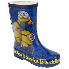 Brand New John Lewis Minions Navy & Yellow Wellington Boots Boy Girl Size Jnr 6