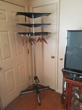 VINTAGE COAT RACK WITH UMBRELLA STAND & SHELVES