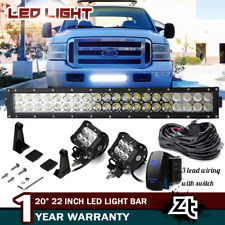 "1999-07 Ford F250 F350 Super Duty Lower Grille Bumper 20/22"" LED Light Bar Combo"