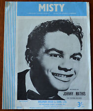Misty by Johnny Burke & Erroll Garner – Johnny Mathis – Pub.1955