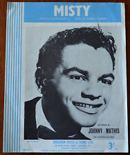 Johnny Mathis Misty by Johnny Burke & Erroll Garner, Bergman Vocco & Con Pub1955