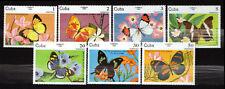 1Cuba 1984 Mi 2821-2827 Butterflies - MNH
