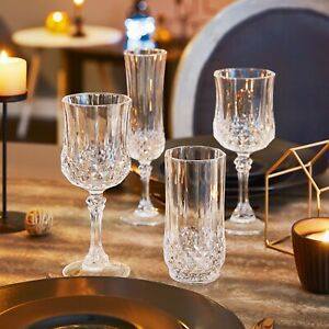 Eclat Cristal d'Arque Longchamp Cognac Wine Tumbler Champagne Crystal Glasses