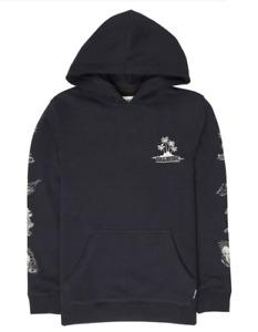 Billabong Kid's Hoodie Houla Island Pullover Hoodie - Black - New
