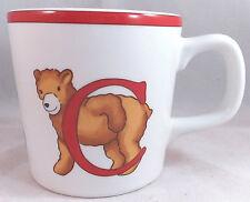 TIFFANY & CO ALPHABET BEARS ABC MUG 1994 Cup Teddy Porcelain Childs Children's