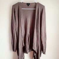 Torrid Brown Knit Open Front Cardigan Sweater Plus Size 1X