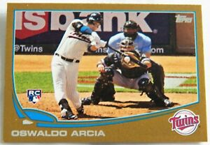 Oswaldo Arcia 2013 Topps Update Series Gold Rookie Card #377/2013