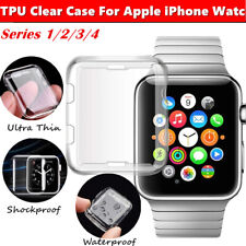 Case for Apple Watch Series iWatch 6 SE 5 4 3 2 Clear Soft TPU iWatch Full Cover