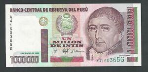 PERU 1000000 SOLES  1990   P-148   UNC