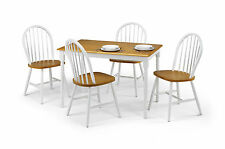OSLO DINING SET White and Oak Finish - Table & Chairs Available Separately