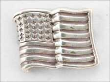 LOT OF 10 CONCHO AMERICAN FLAG BRIGHT SILVER FINISH NEW 10-1008