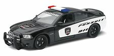 """NewRay Dodge Charger Pursuit Police 1:24 scale 8"""" diecast model car Black N80"""