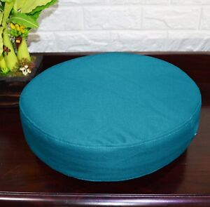 PL22r Turquoise Blue Water Proof Outdoor Box Round Shape Cushion Cover Seat Case