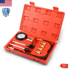 Engine Compression Tester Testing Petrol Gas Gauge Cylinder Check Test Tool Kit