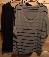 Lot Of 2 Lane Bryant Plus Size 22/24 3X Tops