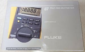 Fluke 87 DMM true RMS multimeter user's instructions manual