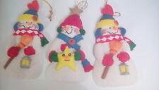 vintage large ceramic snowmen christmas decorations x 3