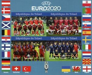 Chad Football Stamps 2021 MNH UEFA Euro 2020 Czech Rep Soccer Sports 4v IMPF M/S