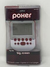 2010 Radica Mattel Big Screen Poker Electronic Handheld Game Backlit New Sealed