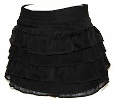 L Lolita Boho Emo Ruffle Steam Punk Gypsy Gothic Goth Burlesque Ultra Mini Skirt