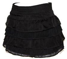 M Lolita Boho Emo Ruffle Steam Punk Gypsy Gothic Goth Burlesque Ultra Mini Skirt