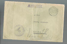 1943 Germany Auschwitz Concentration Camp Commandant SS Feldpost Cover to Brunn