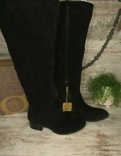 New ~ Women's Born Cricket Over the Knee Boots Black Suede ~ Size 10 / 42