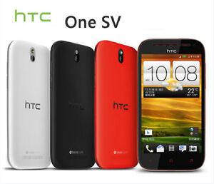 "Original HTC One SV 4"" 3G 4G Wifi GPS 5.0MP Camera Bluetooth Androd Phone"