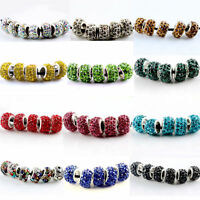 20PCS Silver Glass Beads Fit European Charm Bracelet DIY Jewelry