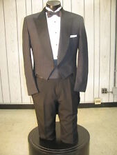 MENS VINTAGE TAILS TUXEDO CHARCOAL GREY 4PC 42R