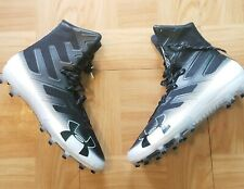 Under Armour Mens Football Cleat Shoes Sz 15 Highlight Lacrosse White Black