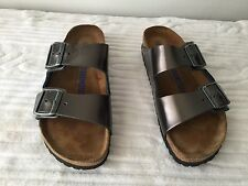 BIRKENSTOCKS SUMMER TIME COMFORT WITH METALLIC GREEN