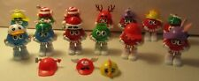 "M & M's-13 Candy Containers-3.5""-Plastic-Christmas-Easter-Misc.-Vintage"