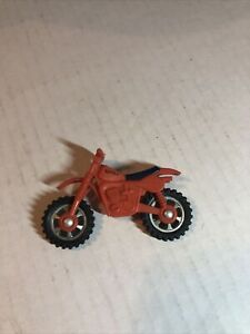 Tonka Dirt Bike Vintage 1982 Red/orange With Blue Seat. Made In Hong Kong 2.5""