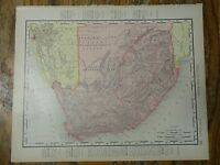Nice colored map of South Africa -1907 Universal Atlas of the World