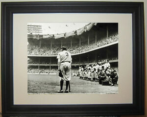 Babe Ruth  New York Yankees Final Speech Framed Photo Photograph Picture
