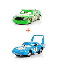 2 pcs Disney Pixar Cars Chick Hicks The King Metal 1:55 Diecast Kids Toys 2018