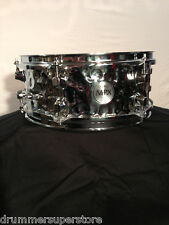 """Mapex Snare Drum Mpx Hammered Steel Chrome 12x5"""" Mpst2506H"""