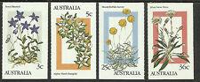 AUSTRALIA 1986 ALPINE FLOWERS Booklet Stamps Set of 4v MNH