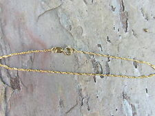 """10 KT Yellow Gold Singapore Link Style Bracelet 7"""" NEW....VERY Thin Lightweight"""
