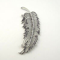 6pcs Antique Silver Alloy Feather Charms Pendant Jewelry DIY Findings 30021