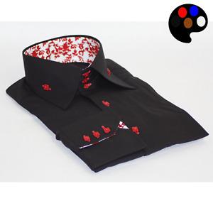 Men Shirt Italian design High Collar Long Sleeve Formal Slim & Regular Fit ME310