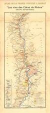 Rhône vin carte. Northern vignobles. CONDRIEU-Hermitage-CORNAS. Larmat 1943