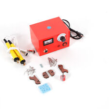 110V 50W Pyrography Machine Gourd Wood Burning Pens Crafts Tools Kit Dual Pen Us