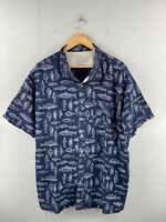 Eddie Bauer Men's Vintage Long Sleeve Casual Fish Shirt Size XL Blue